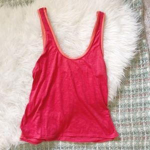*Lucy | Coral Red Athletic Tank Top